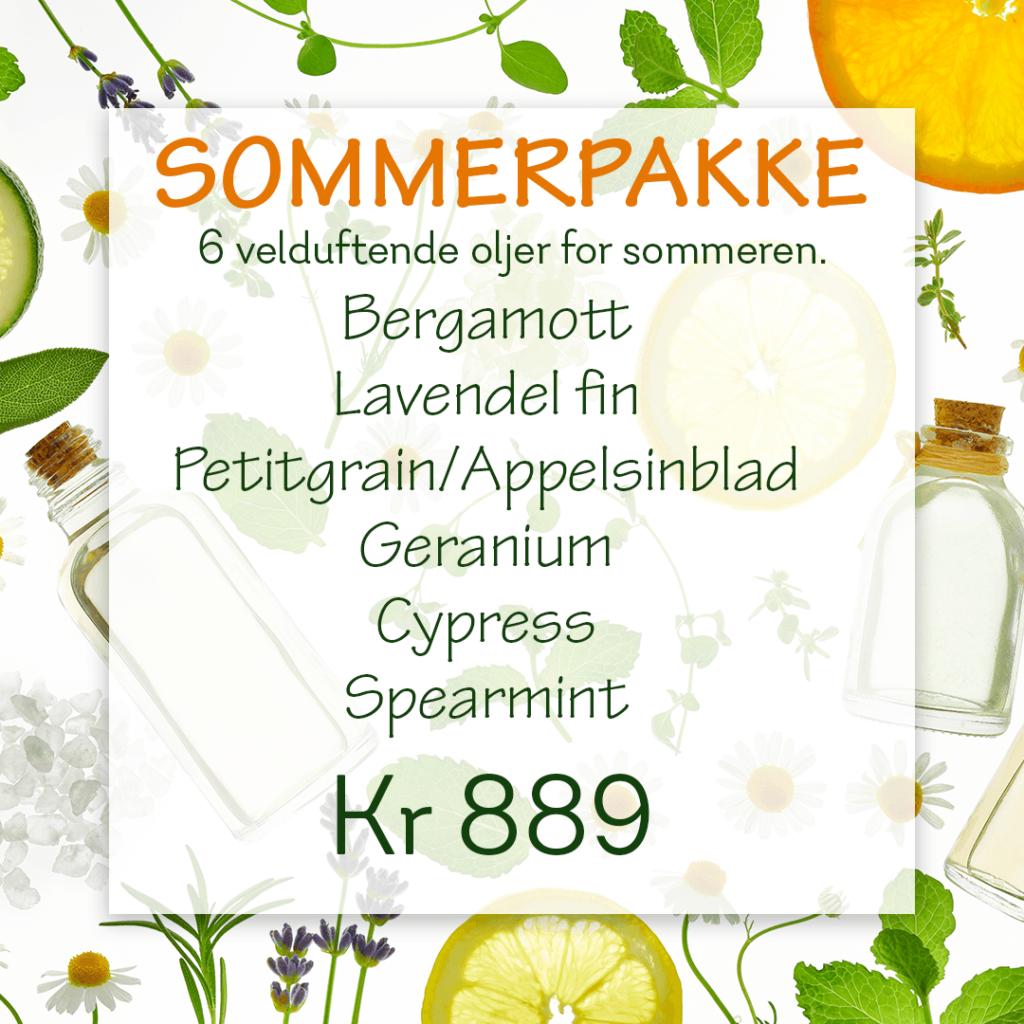 Sommerpakke: Seks eteriske oljer.